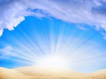 le soleil de dunes Image libre de droits