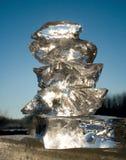 le soleil de glace Images libres de droits