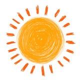 Le soleil de griffonnage Photos stock