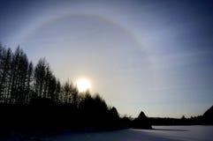 le soleil de halo images stock