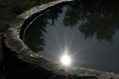 Le soleil de l'eau Images stock