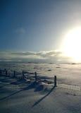 Le soleil de l'hiver Photos stock