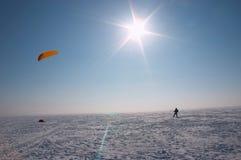 Le soleil de l'hiver images stock