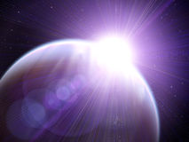le soleil de la terre illustration de vecteur