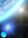 Le soleil de la terre galactique Image stock