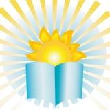Le soleil de livre Photo libre de droits