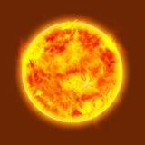 Le soleil de lueur Photo libre de droits