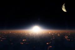 le soleil de lune Photographie stock libre de droits