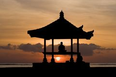 le soleil de méditation Photo libre de droits