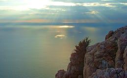 le soleil de mer d'élément de conception Photos libres de droits