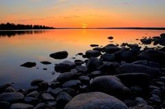 Le soleil de minuit Image libre de droits