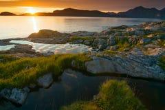 Le soleil de minuit Photographie stock libre de droits