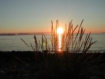 Le soleil de minuit dans Norway4 Images libres de droits