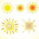 Le soleil de modèles Photographie stock