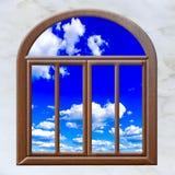 Le soleil de nuage de fenêtre ouverte image libre de droits