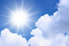 le soleil de nuages Images stock