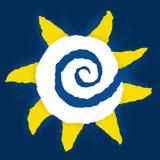 Le soleil de papier (vecteur) Image libre de droits
