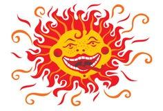 Le soleil de personne Illustration de Vecteur