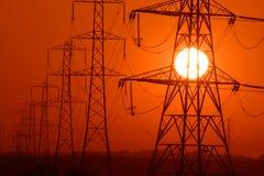 Le soleil de pouvoir Images libres de droits