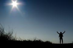 le soleil de pouvoir Photo libre de droits