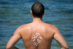 le soleil de protection Images stock