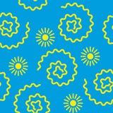 Le soleil de répétition sans couture de modèle du ` s d'enfants d'illustration Photos stock