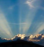 Le soleil de soirée Image stock