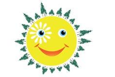 Le soleil de sourire Photo stock