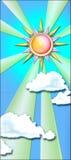 Le soleil de Storybook Image stock