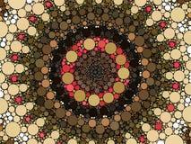 Le soleil de style de Mehndi de kaléidoscope avec l'illustration d'aquarelle de cercles illustration de vecteur