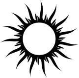 Le soleil de tatouage Image stock