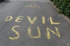 le soleil de Titre-diable photo libre de droits