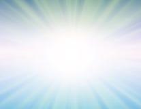 Le soleil de vecteur sur le fond bleu Photos stock