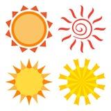 Le soleil différent, ensemble coloré, vecteur illustration de vecteur