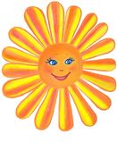 Le soleil doux gai Logo d'isolement illustration libre de droits