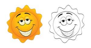 le soleil drôle Images libres de droits