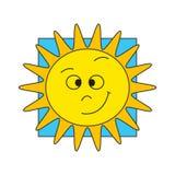 Le soleil drôle de dessin animé Images libres de droits