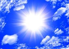 Le soleil en nuages Image libre de droits