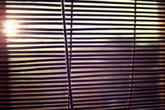 Le soleil est brillant par des abat-jour Photos libres de droits