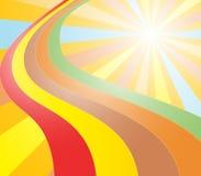 Le soleil et arc-en-ciel de couleur illustration libre de droits