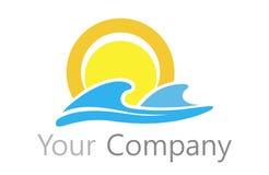 Le soleil et l'eau de logo Images libres de droits