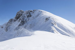 Le soleil et le vent dans les montagnes Photographie stock