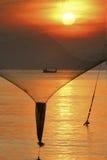 Le soleil et les filets Images stock