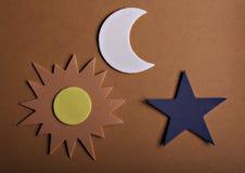 Le soleil et lune d'étoile Photographie stock libre de droits
