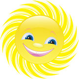 Le soleil gai illustration de vecteur