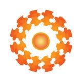 Le soleil grand de logo illustration stock