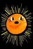 Le soleil heureux illustration libre de droits