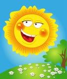 Le soleil heureux de source sourit et s'allume Images libres de droits