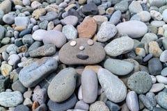 Le soleil heureux en pierre Photographie stock libre de droits
