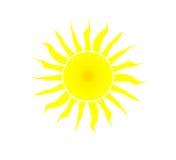 Le soleil jaune. Photos stock